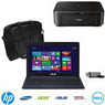 Holiday Laptop, Case, Flash Drive & Printer Bundle
