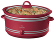 Rival 7Qt Red Crock Pot w/ Bonus Bag