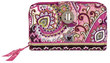 Vera Bradley Turn Lock Wallet in Very Berry Paisley