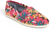TOMS Women's Classic Pink Floral Vegan Slip-On Shoes