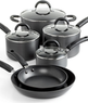 Martha Stewart Anodized 10 Piece Cookware Set