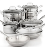 Emeril by All-Clad Cookware Stainless Steel 12-Piece Bundle