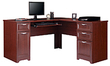Realspace Magellan Collection L-Shaped Desk + Matching Hutch