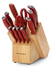 KitchenAid Classic Soft Grip Red 12-Piece Cutlery Set