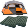 Ozark Trail 8-Person Instant Tent + 2 Queen Airbeds w/ Pump