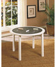White Round Chalkboard Table