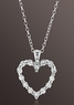 Romantic & Sweet Heart-Shaped White Sapphire Pendant