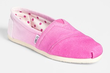 Toms Women's Pink Ombre Slip-On Shoes