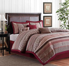 Colormate 7-Piece Jacquard Princeton Woven Bed Comforter Set