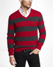 Rugby Stripe Men's V-Neck Sweater