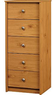 Essential Home Belmont 5 Drawer Lingerie Chest, Pine Finish