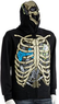Men's Skeleton Headphone Costume Full-Zip Hoodie