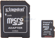 Kingston 64 GB MicroSDXC Flash Card w/ Adapter