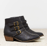 AEO Studded Buckled Booties