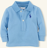 Layette Boys' Long-Sleeved Cotton Polo