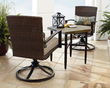 Grand Resort River Oak 3-Piece Woven Bistro Set
