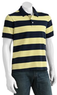 Croft and Barrow Rugby-Striped Pique Polo