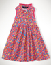 Girls' Floral Sleeveless Polo Dress
