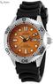 Men's Diver's Solar Black Rubber Orange Dial