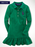 Girls' Long-Sleeved Big Pony Dress