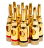 High-Quality Gold Plated Speaker Banana Plugs, 5 Pairs