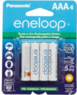 Panasonic AAA eneloop Rechargeable Batteries, 4-Pack
