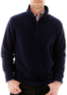 St. John's Bay Men's Long-Sleeve Quarter-Zip Fleece Pullover