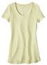 Women's Linen Drapey Scoop Tee