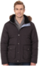 IZOD Men's Quilted Puffer Jacket w/ Faux Fur Trim Hood