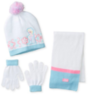 Berkshire Girls' 3-Piece Frozen Beanie, Glove & Scarf Set