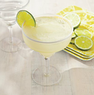 White-Rimmed Margarita Glass