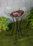 NFL Handpainted Team Logo Birdbath with Stand