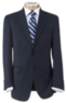 Men's Crossover Tailored Fit 2-Button Suit w/ Front Trousers