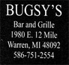 Bugsy's Bar & Grille Coupons Warren, MI Deals